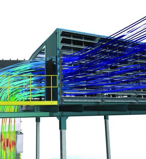 CFD optymalizacja systemów odciągu, filtrów przemysłowych